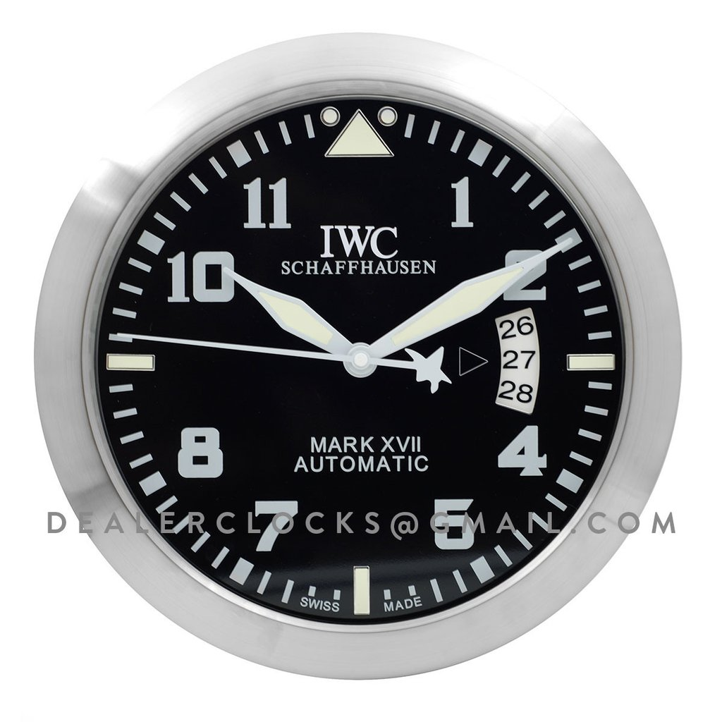 IWC Pilot's Wall Clock Mark XVIII Heritage Automatic Black Dial Unisex