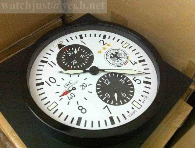 IWC Pilot's wall clock White Chronograph iw377709